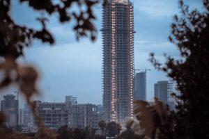 A skyscraper under construction in Addis Ababa