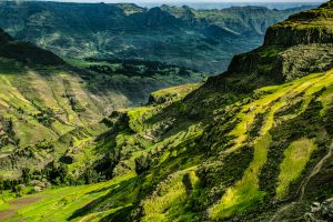 Green hills in Ethiopia