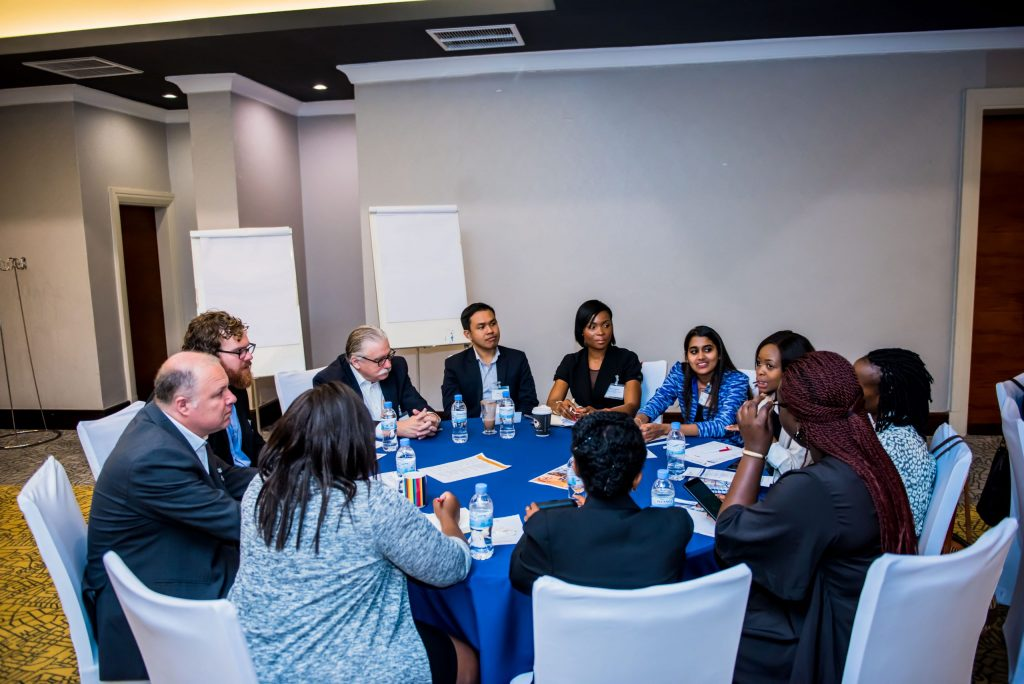 Oxford Policy Fellows at a round-table discussion