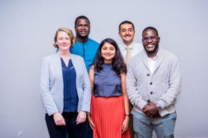 The five Oxford Policy Fellows in cohort 4.