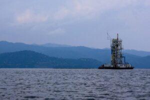 Gas rig lake Kivu, Rwanda